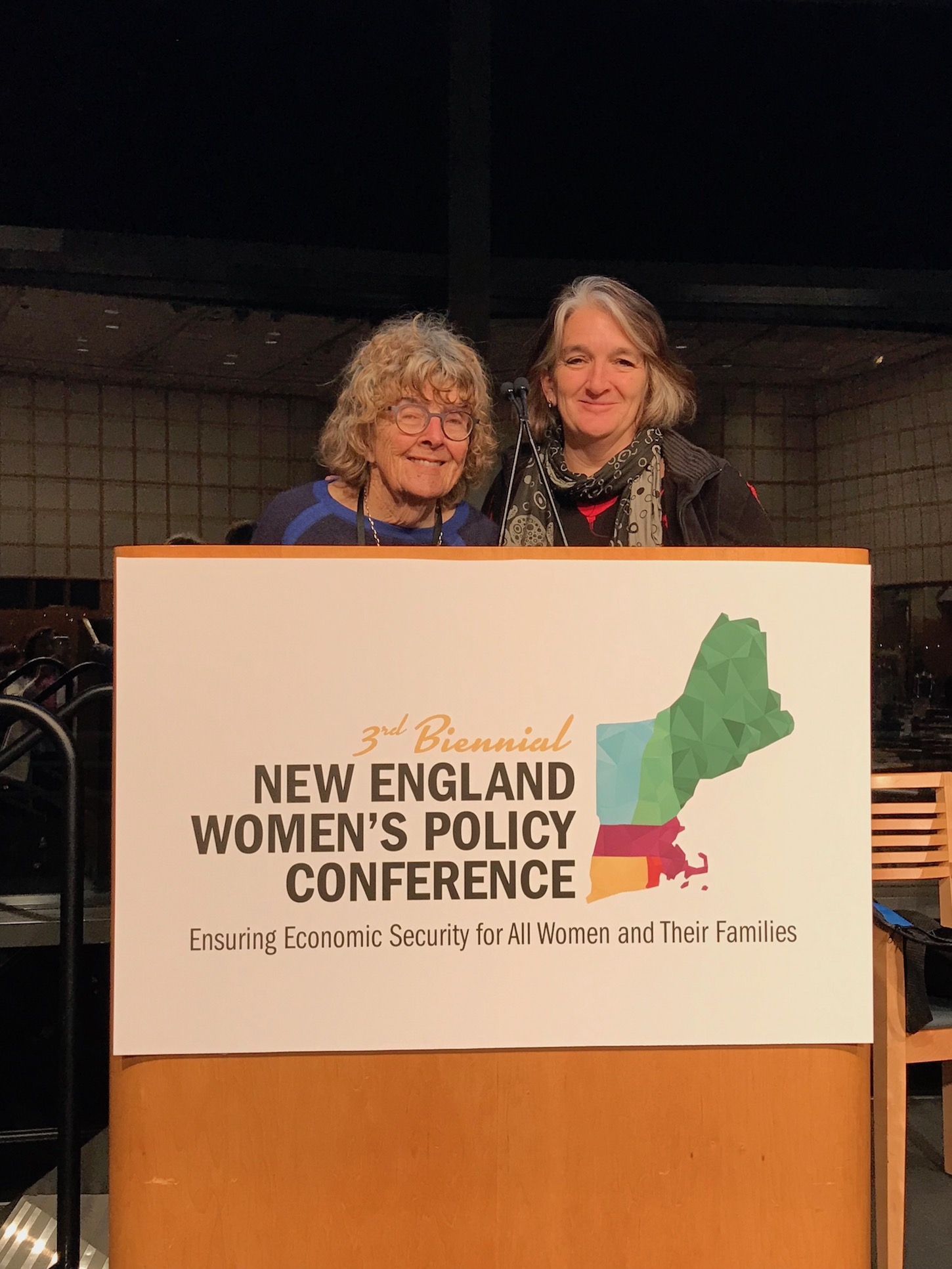 Becky and her mom, Flora Parisky, at the New England Women's Policy Conference